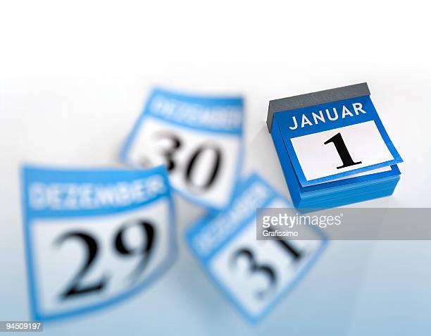 German calendar January 1st 2016