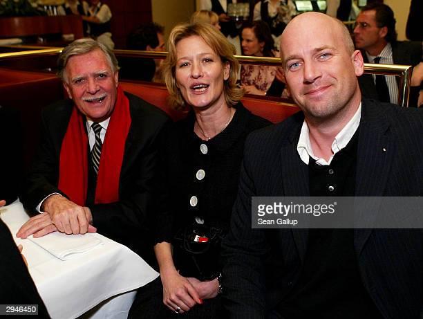 German cameraman Michael Ballhaus actress Suzanne von Borsody and her friend Jens Schniedenharn attend the People's Night Volkswagen Party at...
