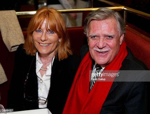 German cameraman Michael Ballhaus and his wife Helga attend the People's Night Volkswagen Party at Borchardt restaurant to celebrate the 54th annual...