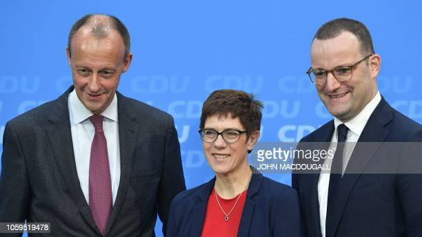 German candidates for the Christian Democratic Union party's leadership corporate lawyer and former CDU parliamentary group leader Friedrich Merz CDU...