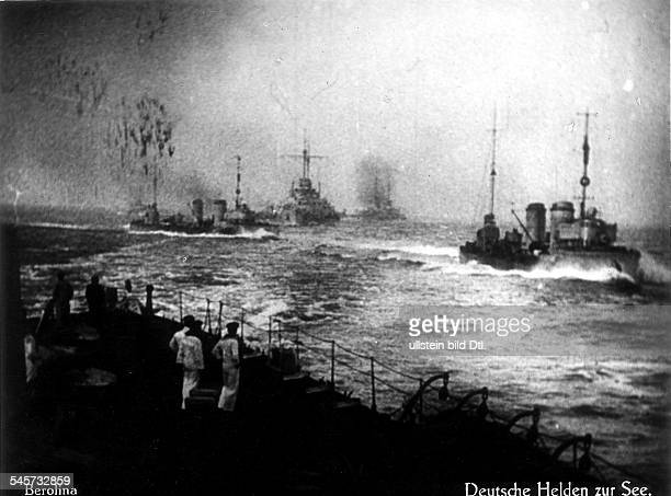 German capital ships and torpedo boats in combat