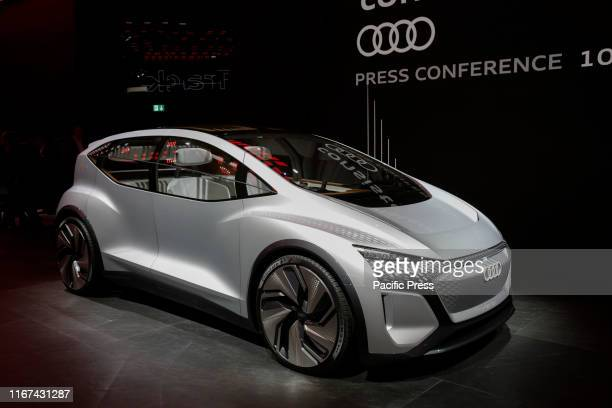 German car manufacturer Audi, part of the Volkswagen Group, presents the concept car AI:ME at a press conference at the 2019 Internationale...