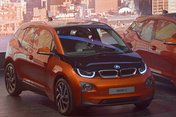 German Carmaker Bmw First Fully Electric Car Bmw I3 Are Displayed