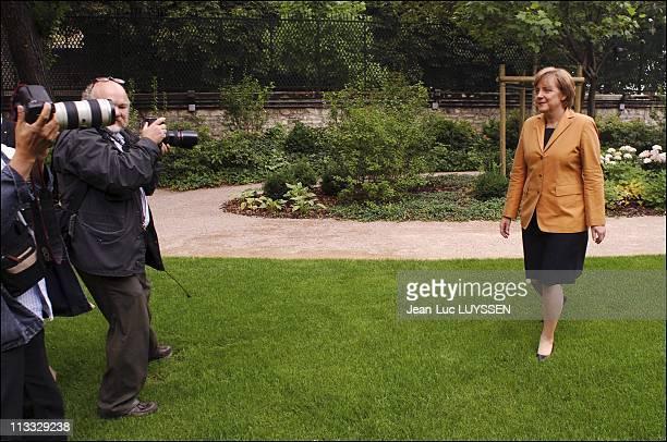 German Cdu President Angela Merkel On Visit To Paris On July 19Th 2005 In Paris France Here Angela Merkel Leader Of German Opposition Christian...