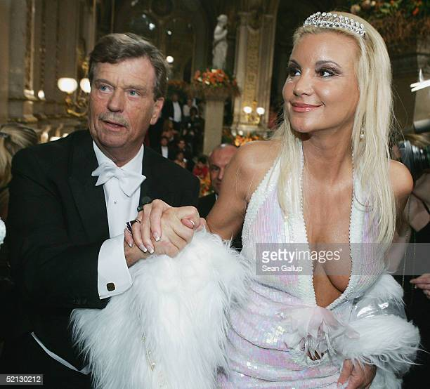German celebrities Tatjana Gsell and Prince Ferfried von Hohenzollern attend the annual 'Vienna Opera Ball' at the Vienna State Opera on February 3...