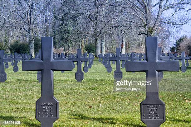 German cemetery situated to Malmaison in France. Thé chemin des Dames is located between Soissons, Laon and Reims, he experienced during world war...
