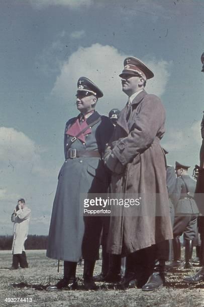 German Chancellor Adolf Hitler attends pre war army Manoeuvres with CommanderinChief Field Marshal Walther von Brauchitsch circa 1938
