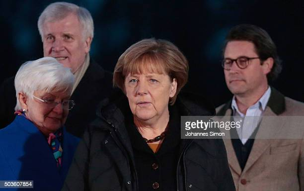 German Chancellor and Chairwoman of the German Christian Democrats Angela Merkel Bavarian Governor and Chairman of the Bavarian Christian Democrats...