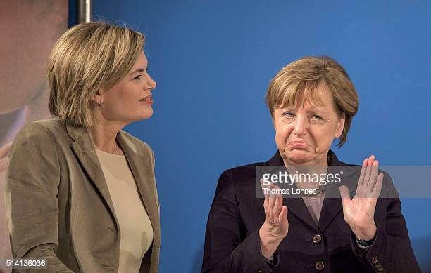 German Chancellor and Chairwoman of the German Christian Democrats Angela Merkel and CDU lead candidate for RhinelandPalatinate Julia Kloeckner...