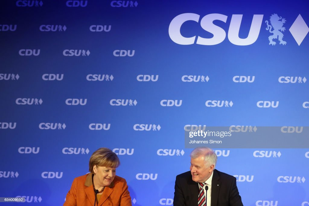 CDU And CSU Meet To Discuss Common Elections Platform : News Photo
