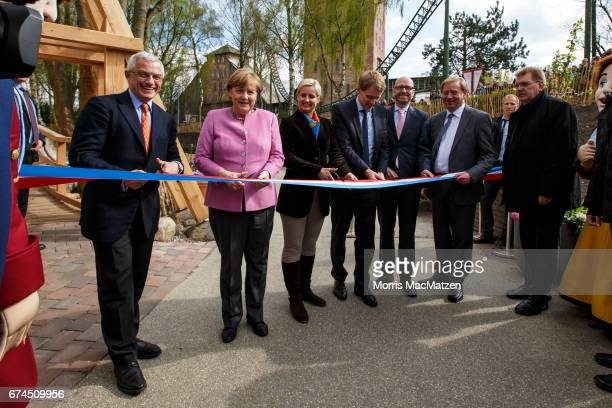 German Chancellor and Chairwoman of the German Christian Democrats Angela Merkel local CDU lead candidate Daniel Guenther CDU General Secretary Peter...