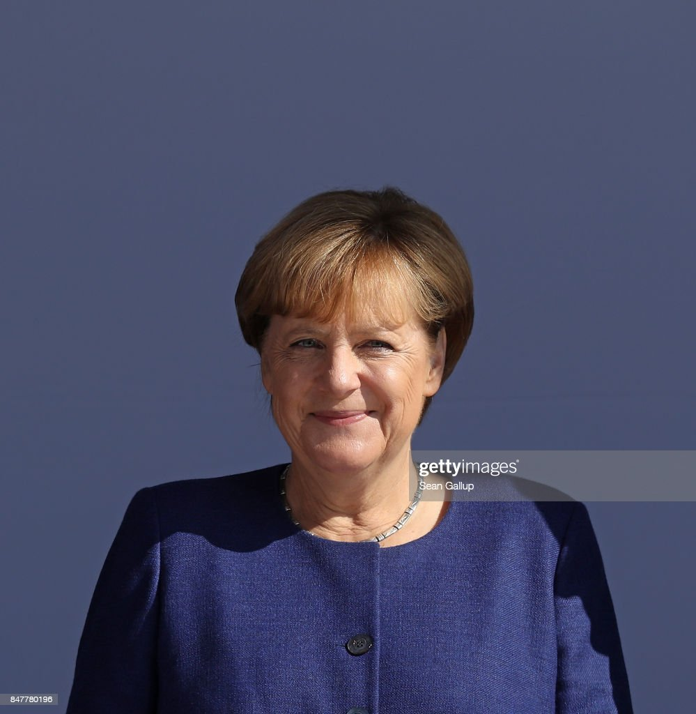 Merkel Campaigns In Binz On Ruegen Island