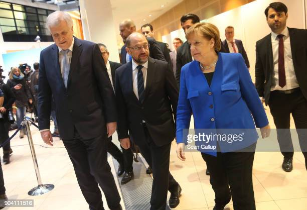 German Chancellor and head of the German Christian Democrats Angela Merkel Bavarian Governor and leader of the Bavarian Christian Democrats Horst...