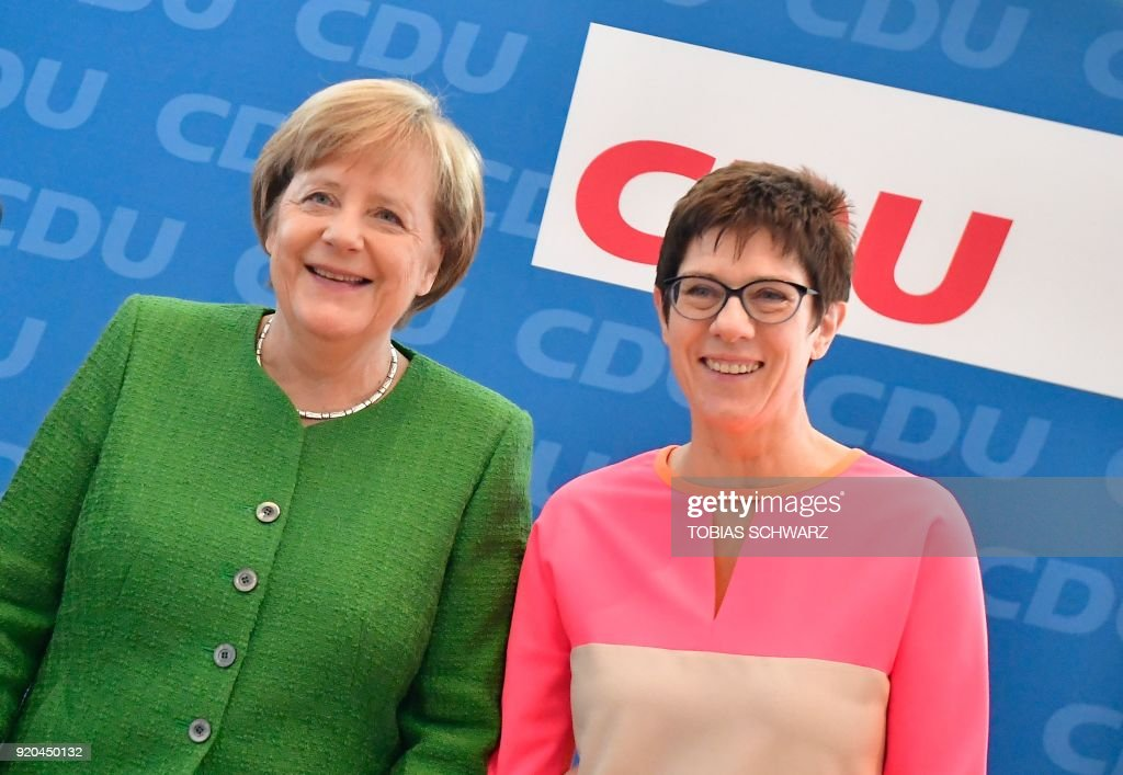 German Chancellor Angela Merkel attends  a leadership meeting of the CDU party in Berlin