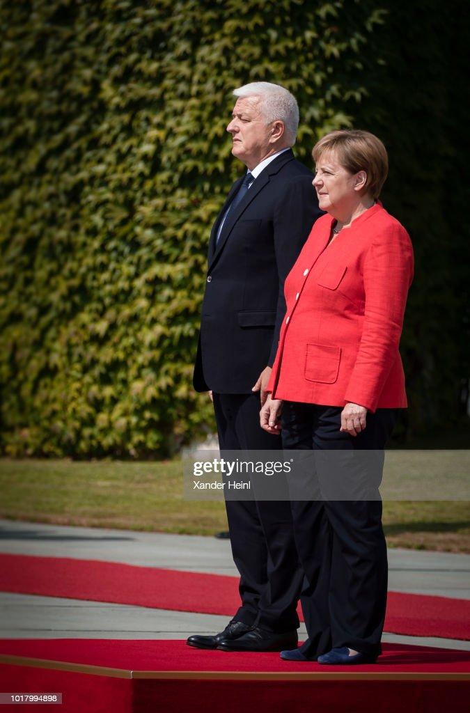 Chancellor Merkel Meets Prime Minister Of Montenegro