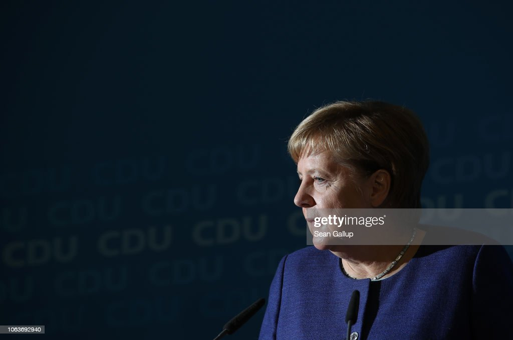 SPD And CDU Hold Press Conferences Following Leadership Retreats : News Photo