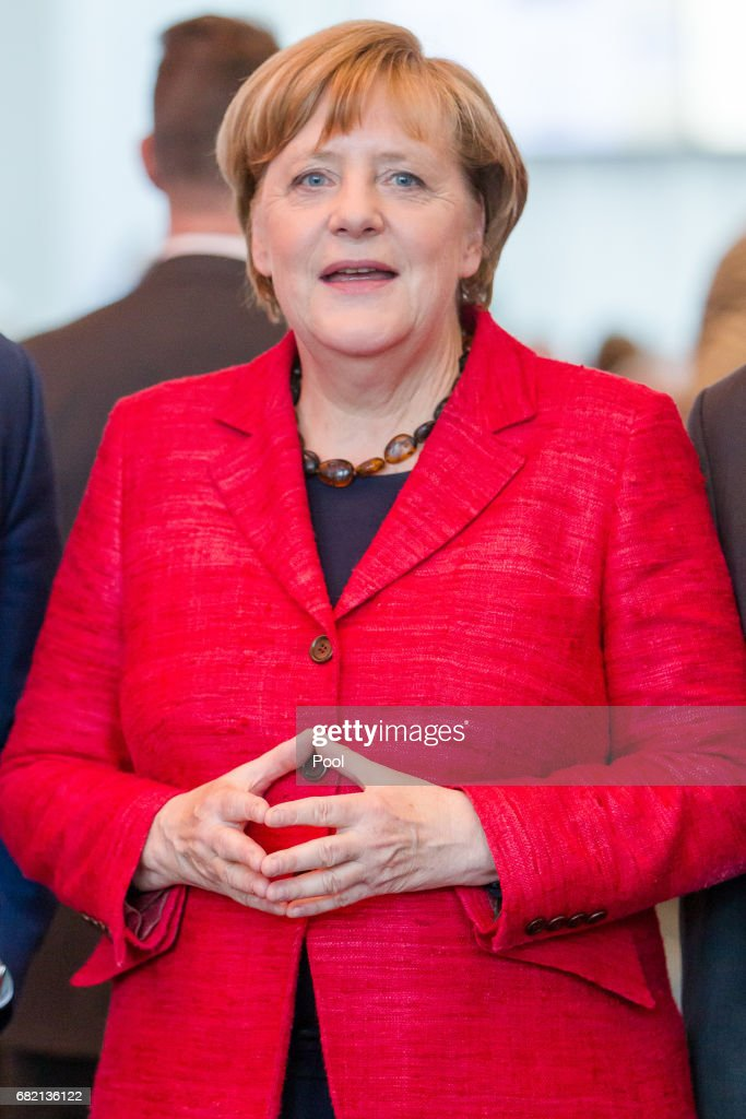 Merkel Attends Rheinischer Post Reception Ahead Of North Rhine-Westphalia State Election