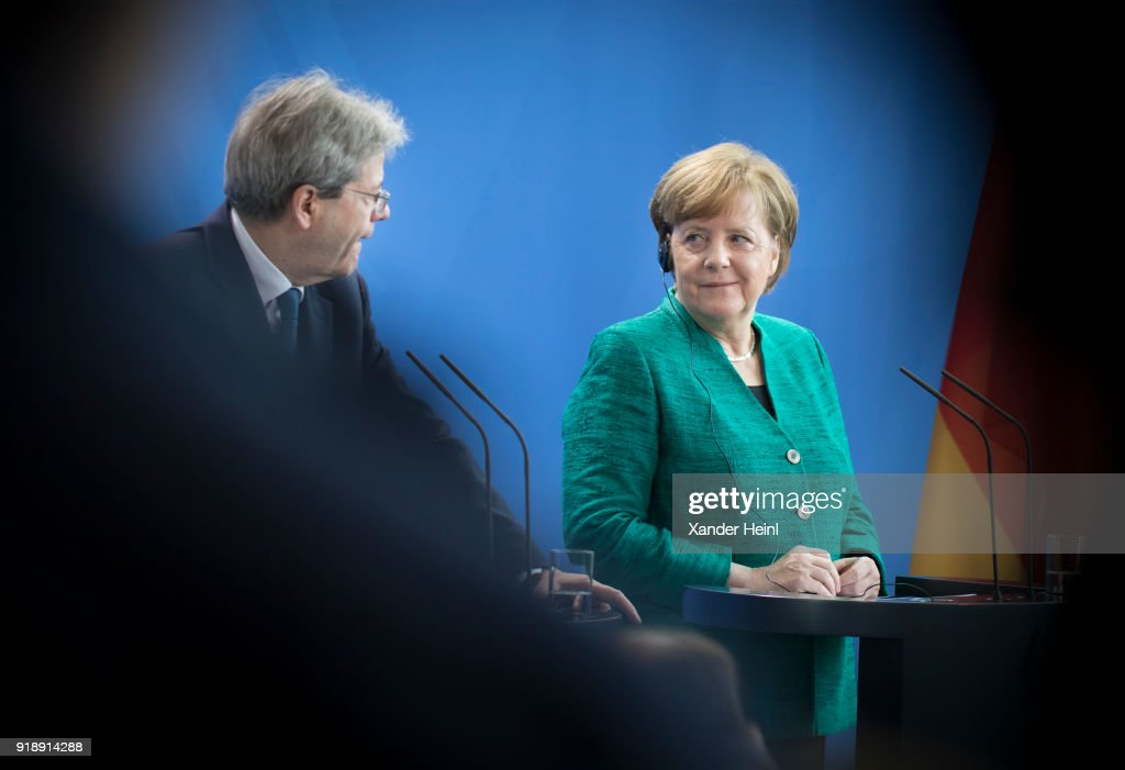 Italian Prime Minister Gentiloni Meets Chancellor Merkel