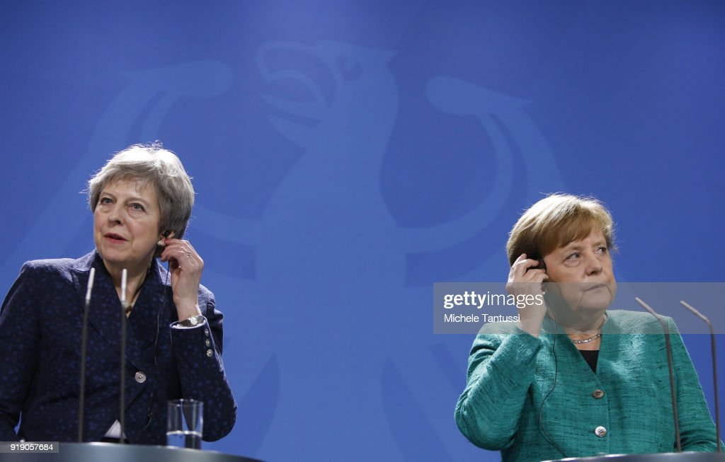 Angela Merkel Meets With Theresa May In Berlin