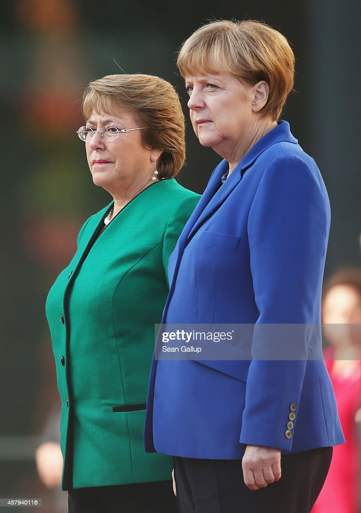 Chilean President Bachelet Visits Berlin : News Photo