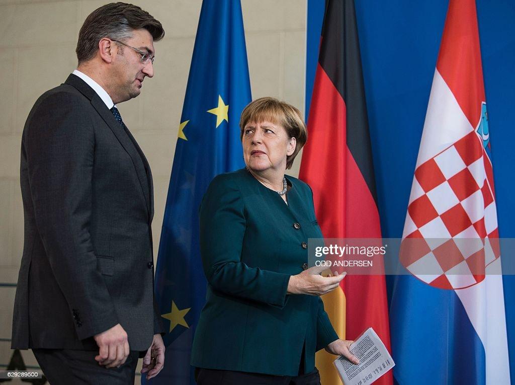 GERMANY-CROATIA-POLITICS-DIPLOMACY : Nachrichtenfoto