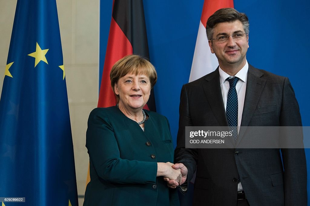 GERMANY-CROATIA-POLITICS-DIPLOMACY : Nachrichtenfoto