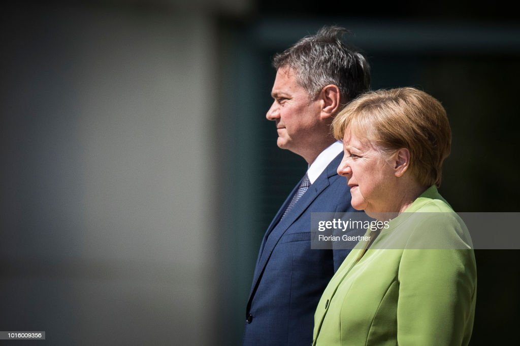 German Chancellor Angela Merkel Meets Denis Zvizdic