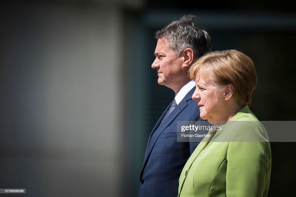 German Chancellor Angela Merkel Meets Denis Zvizdic