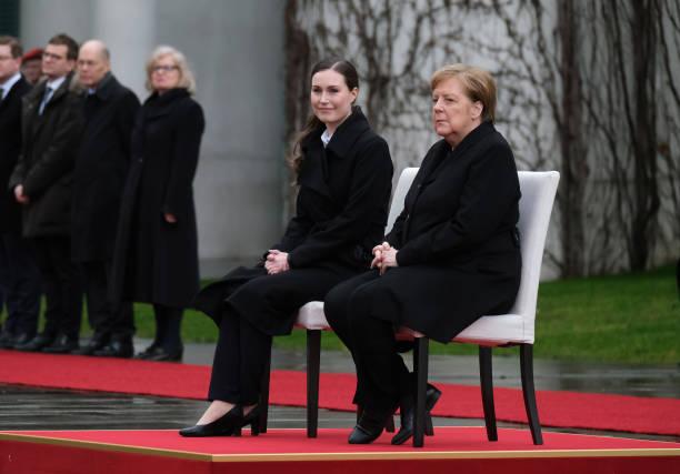 DEU: New Finnish Prime Minister Sanna Marin Meets With Angela Merkel