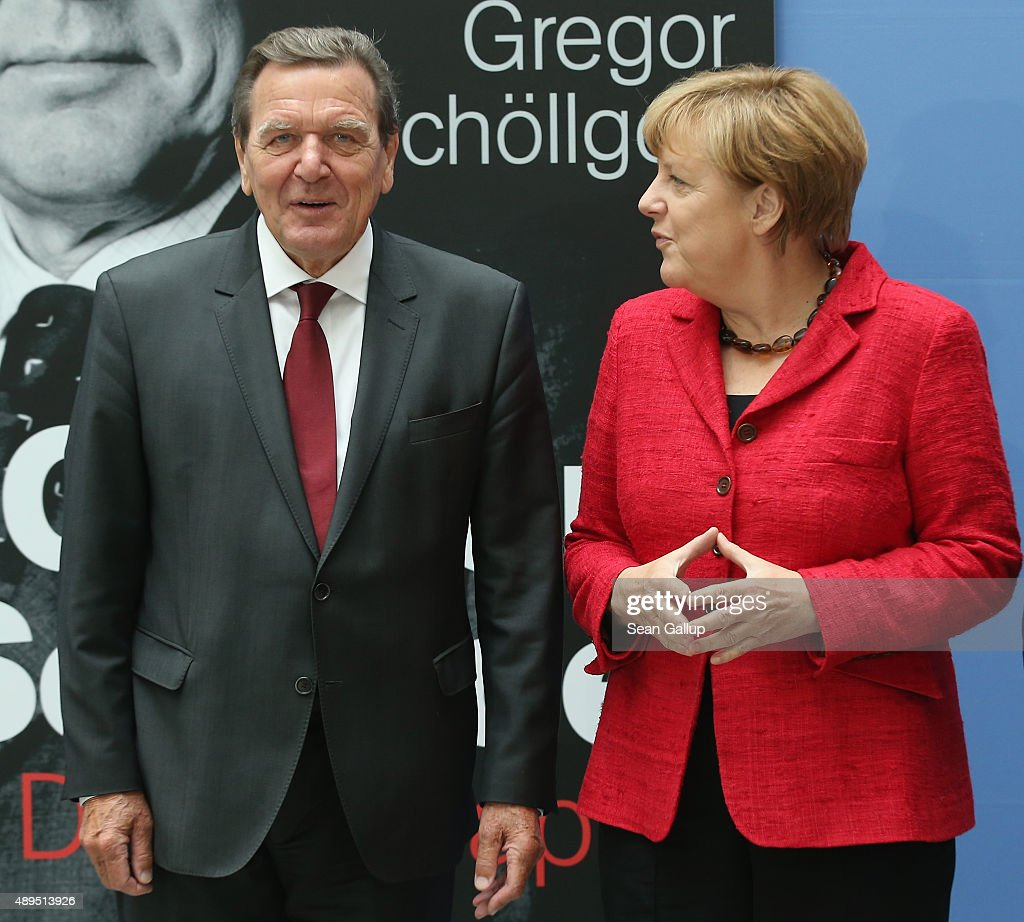 German Chancellor Angela Merkel And Former Chancellor Gerhard News Photo Getty Images