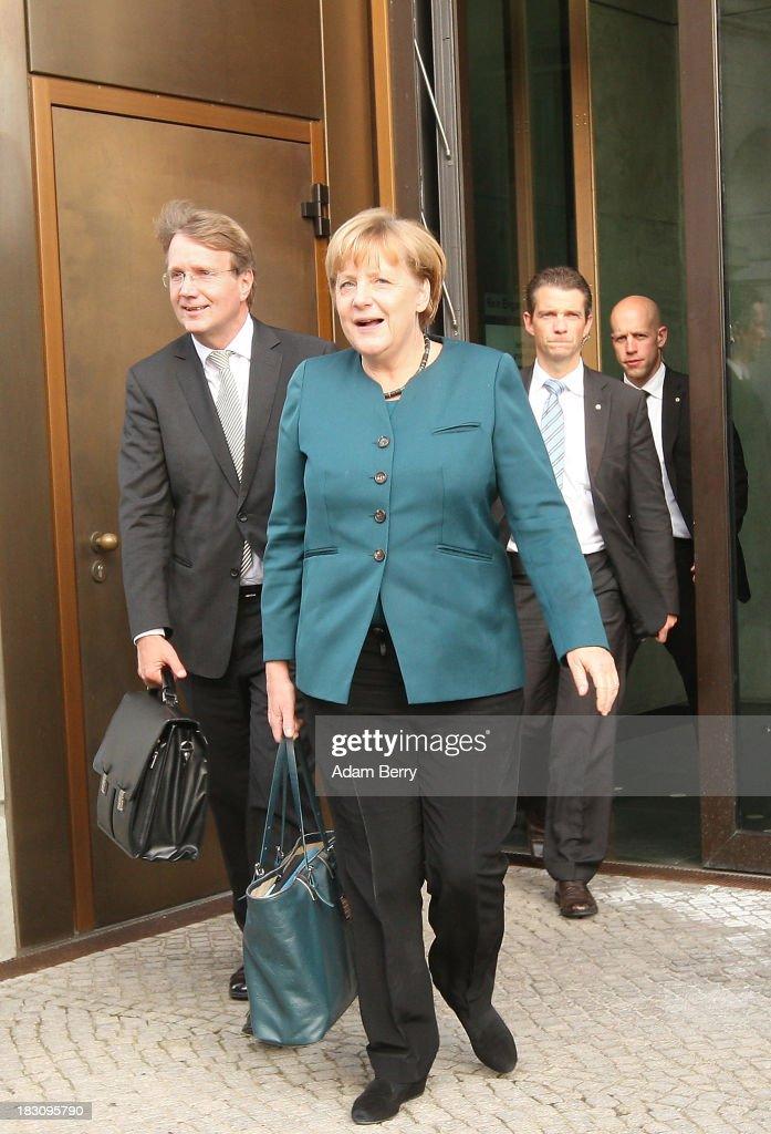 SPD And CDU/CSU Meet For Tentative Coalition Talks