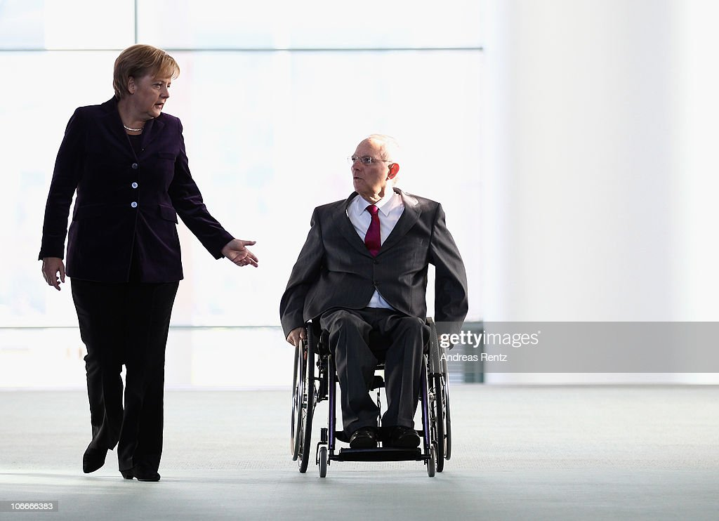 Merkel Briefs The Media On G20 Seoul Summit