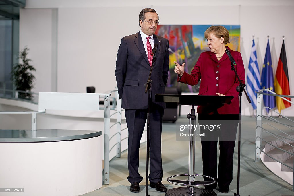 Merkel And Samaras Meet In Berlin