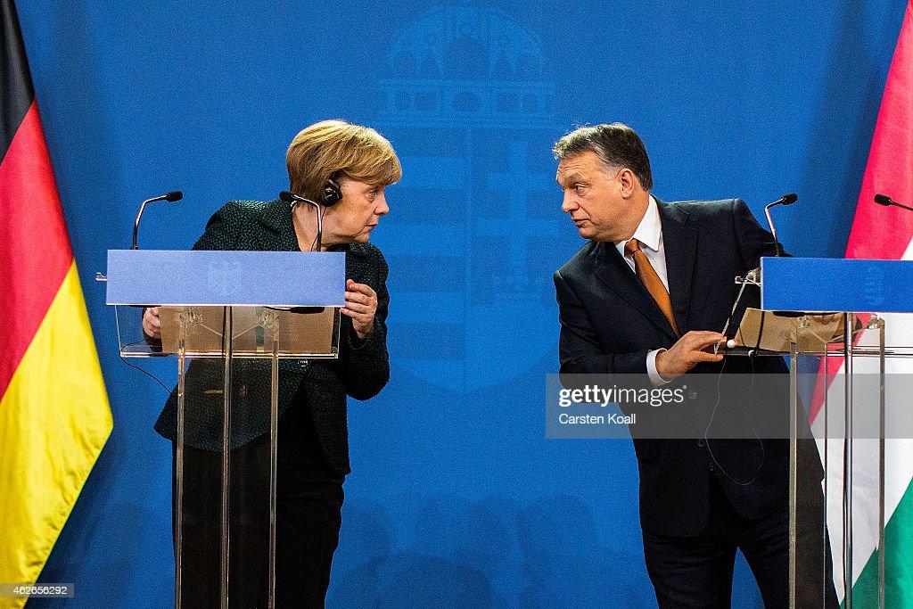 Angela Merkel Visits Budapest