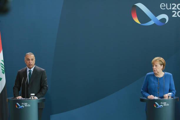 DEU: Merkel Meets Iraqi Prime Minister Mustafa Al-Kadhimi