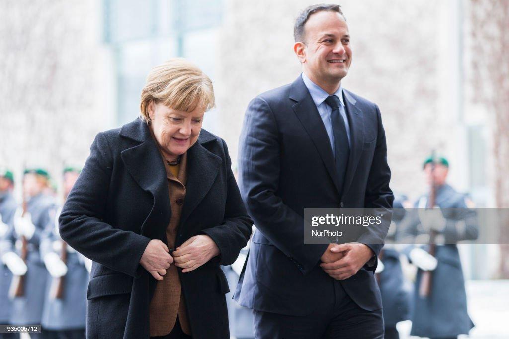 Angela Merkel meets Irish Prime Minister Leo Varadkar in Berlin