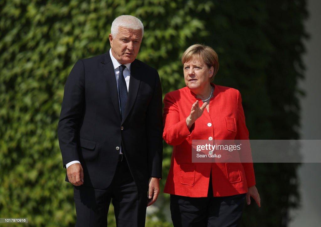 Merkel Receives Montenegro Prime Minister Markovic