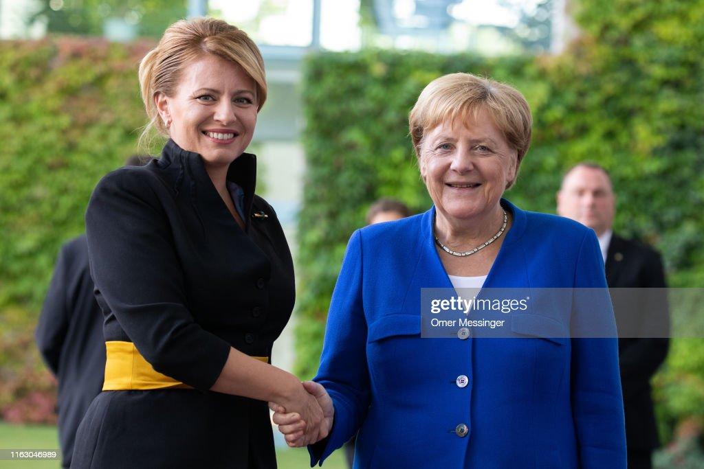 New Slovak President Caputova Visits Berlin : Nieuwsfoto's