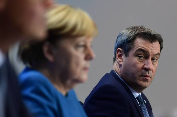 DEU: Merkel Speaks Following Meeting With States Leaders During Coronavirus Second Wave