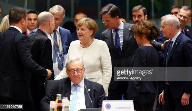 German Chancellor Angela Merkel and President of the European Commission JeanClaude Juncker attend Heads of State or Government of the European Union...