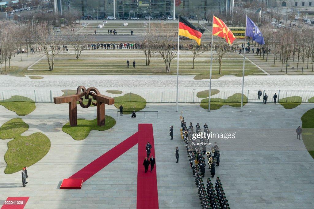 Angela Merkel meets Prime Minister of Macedonia : News Photo