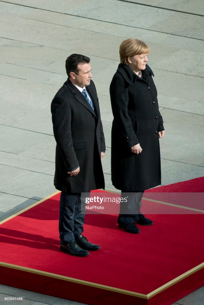 Angela Merkel meets Prime Minister of Macedonia : News Photo