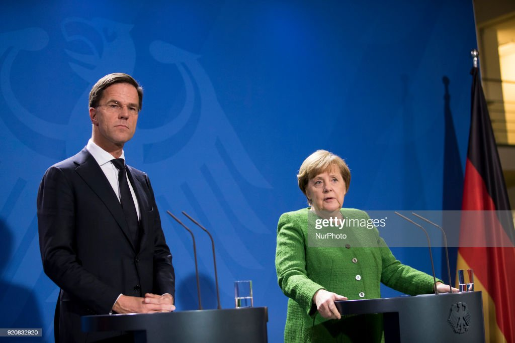 Prime Minister of the Netherlands Mark Rutte in Berlin