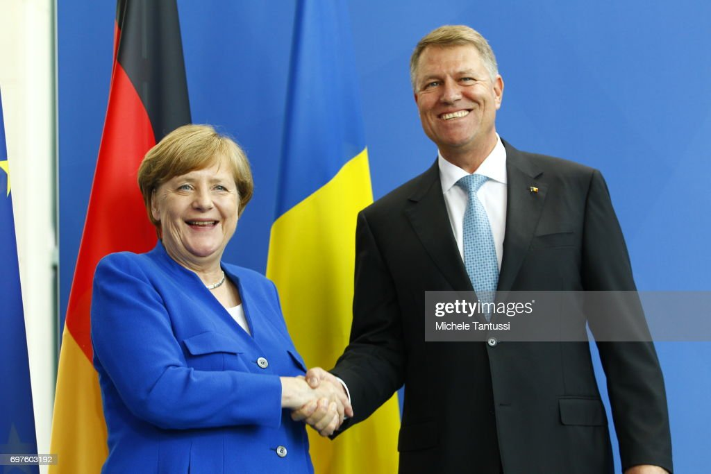 Merkel Meets With Romanian President Ioannis
