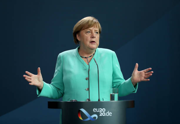 DEU: Spanish Prime Minister Sanchez Meets With Angela Merkel