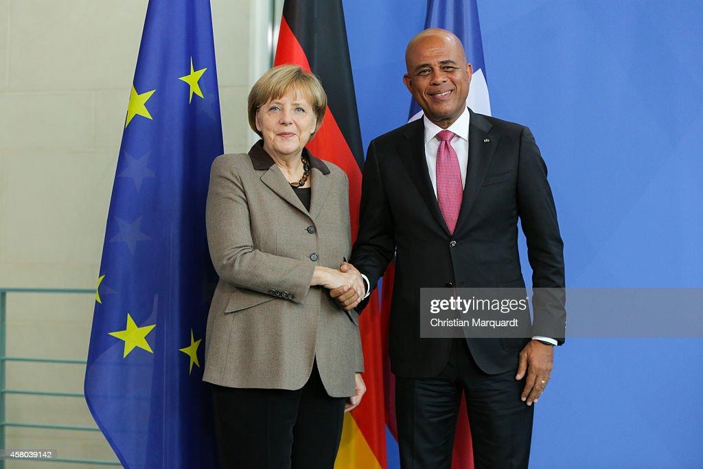 Haitian President Martelly Meets With Angela Merkel