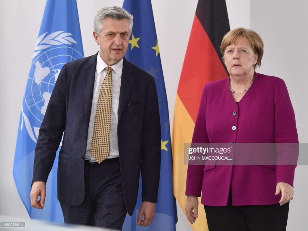 Merkel Meets With UN Refugees Commissioner Grandi