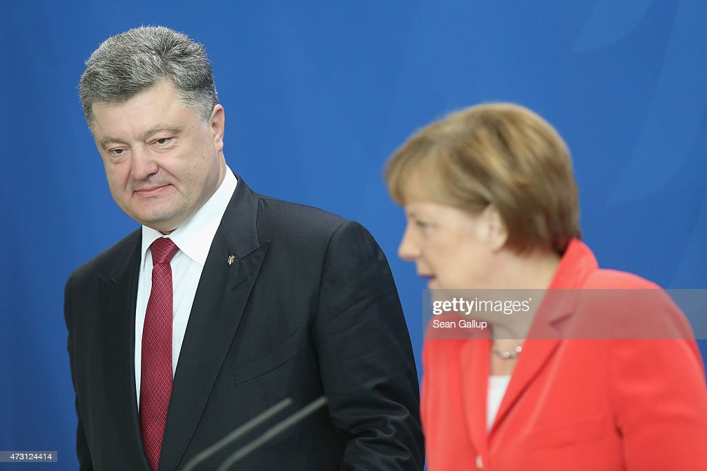 Ukrainian President Poroshenko Meets With Chancellor Merkel