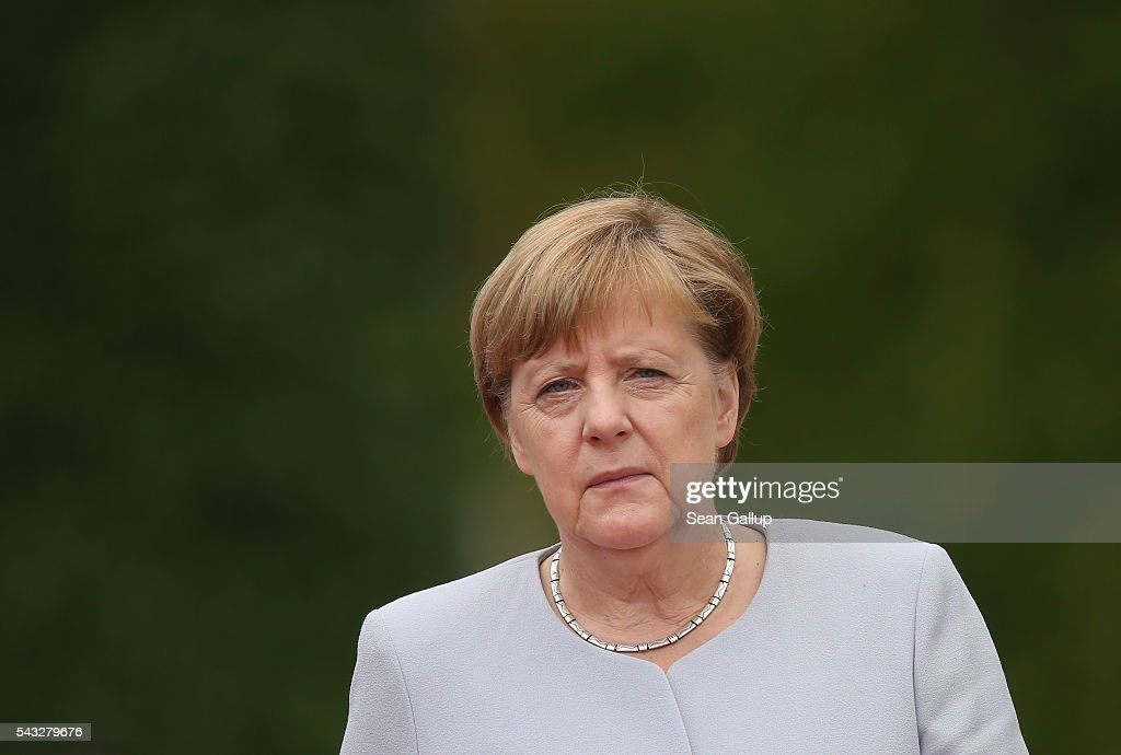 Ukrainian Prime Minister Groysman Meets With Angela Merkel