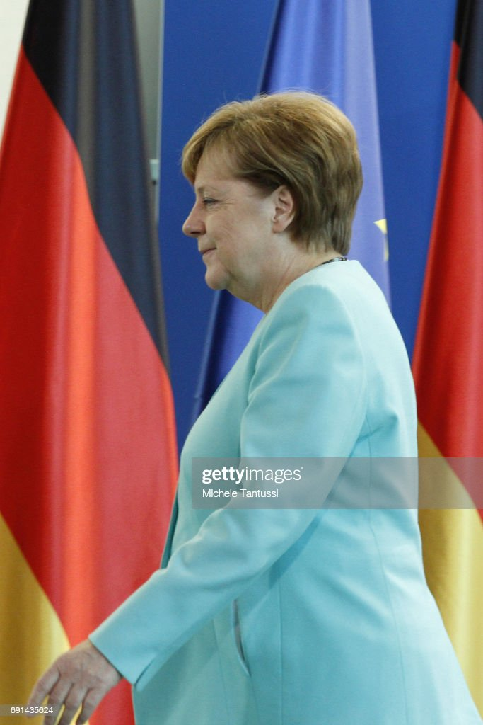 German Chancellor Angela Merkel appears for a press conference to announce her reaction to U.S. President Donald Trump's announcement that he will pull the United States out of the Paris agreement on June 2, 2017 in Berlin Germany. Merkel stated that Germany and others countries will not be detoured in addressing the protection of the planet regardless of the United States' climate move.